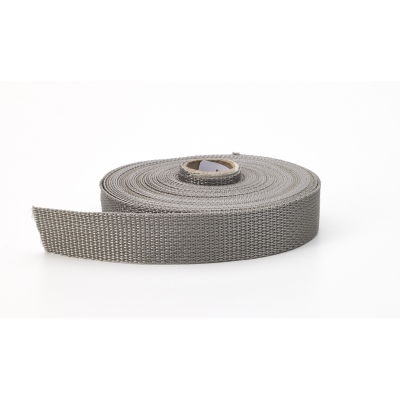 M2020-422-150-10, Polypropylene webbing, 1.5 in Wide, 10 yds, Gray, Mutual Industries