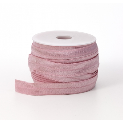 M3070-020, Foldover elastic, .625 in Wide, 25yds, Pink, Mutual Industries
