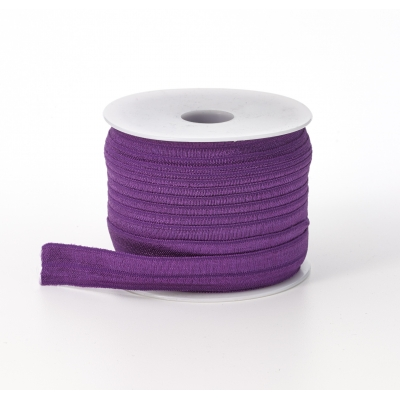 M3070-026, Foldover elastic, .625 in Wide, 25yds, Purple, Mutual Industries
