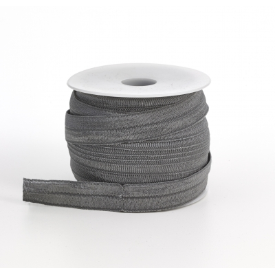 M3070-049, Foldover elastic, .625 in Wide, 25yds, Gray, Mutual Industries