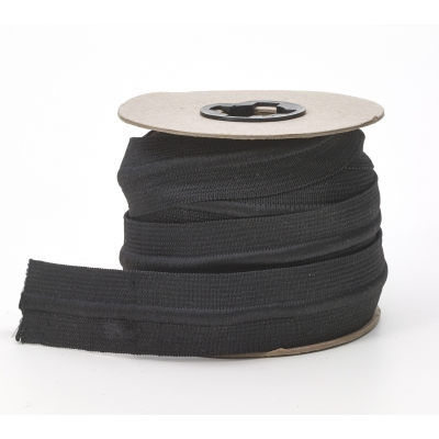 M4085-125-10, Draw cord elastic, Black 1-1/4 in - 10 yards, Mutual Industries
