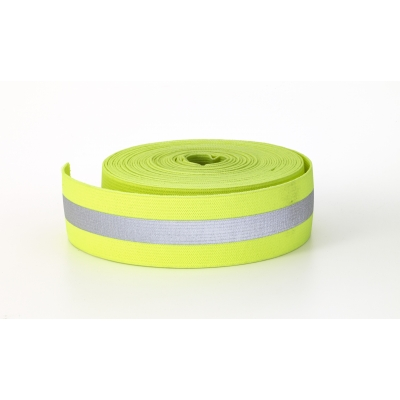M5081-150-010LM, Reflective Elastic, 1.5 in Wide, 10 yds, Lime, Mutual Industries