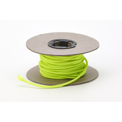 M5090-15NY, Shock cord, .125 in Wide, 15 yds, Neon Yellow, Mutual Industries