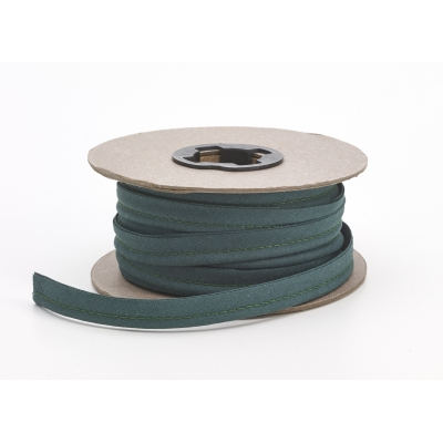 M62-050-10249-15, Broadcloth cord piping, 1/2 in Wide, 15 yds, Hunter, Mutual Industries