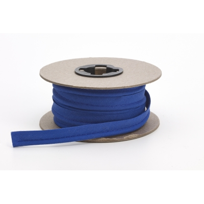 M62-050-9025-15, Broadcloth cord piping, 1/2 in Wide, 15 yds, Cobalt, Mutual Industries