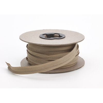 M62-050-9212-15, Broadcloth cord piping, 1/2 in Wide, 15 yds, Khaki, Mutual Industries