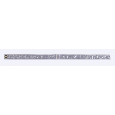 M75100-10, Reflective Streamer, 30 Length x 1-1/2 Width, White, Mutual Industries