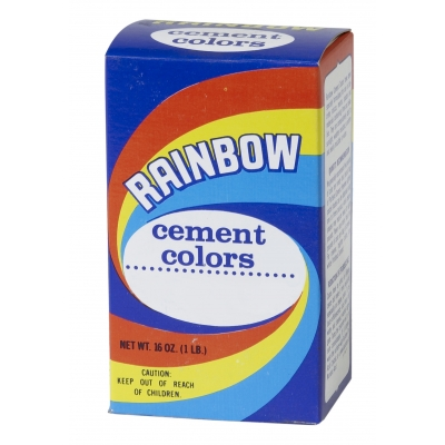 M9014-1-0, 1 lb Box of Rainbow Color - Cement Blue, Mutual Industries
